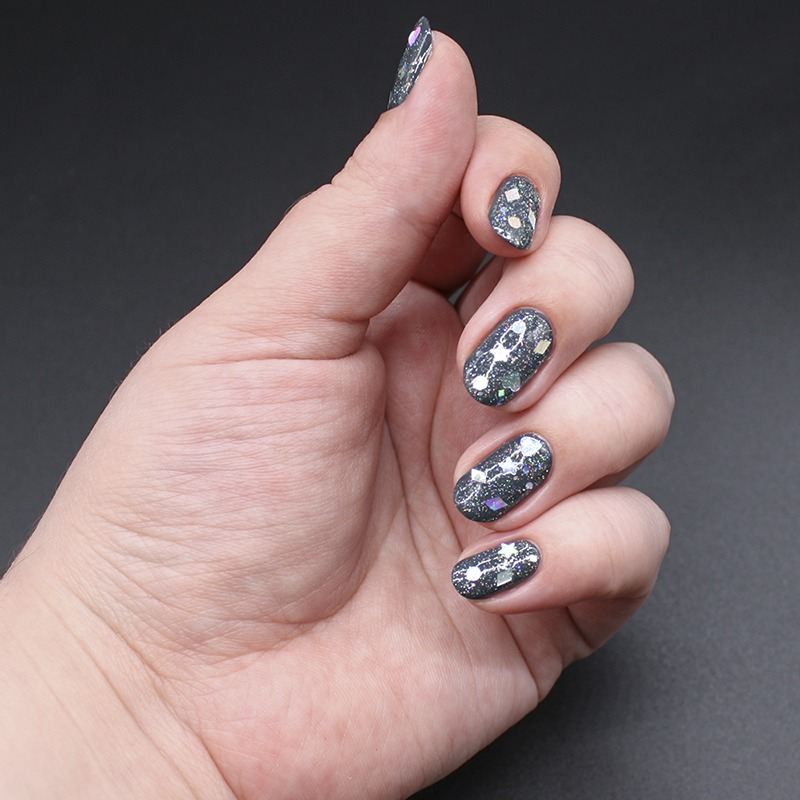 anny - a perfect dream, misa - supernova, orly - prisma gloss silver, глиттер с али