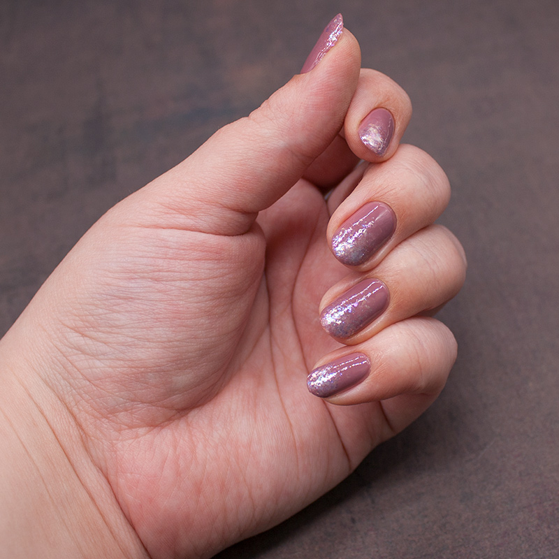 orly - classic contours, orly - pink flakie top coat