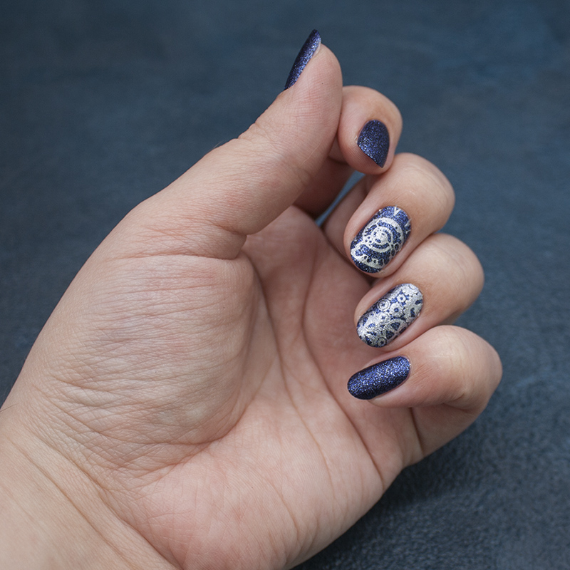 opi - ds lapis, moyou london - gothic 07, konad - silver