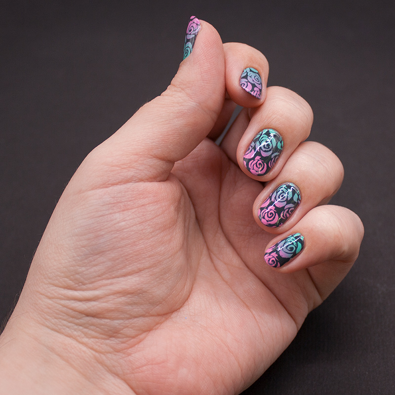 anny - a perfect dream, moyou london - pro 07, dance legend stamping polish - mint, dance legend stamping polish - pink