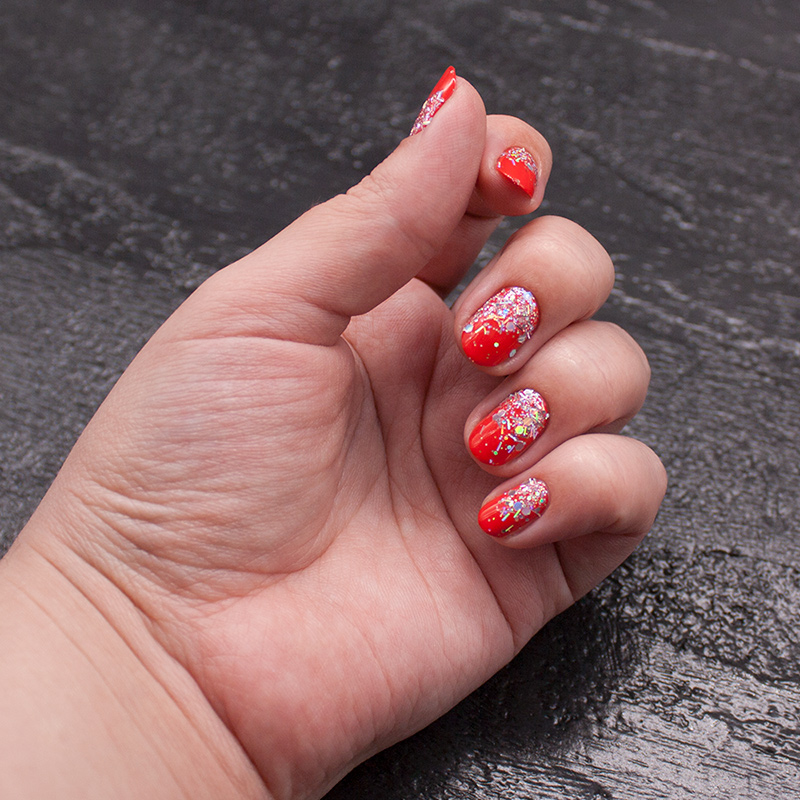 opi - my paprika is hotter than yours, глиттер с али