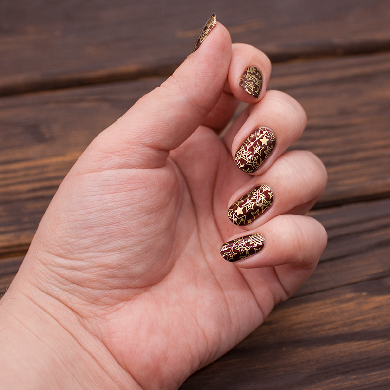 opi - german-icure, dance legend stamping polish - gold, born pretty - bp-184