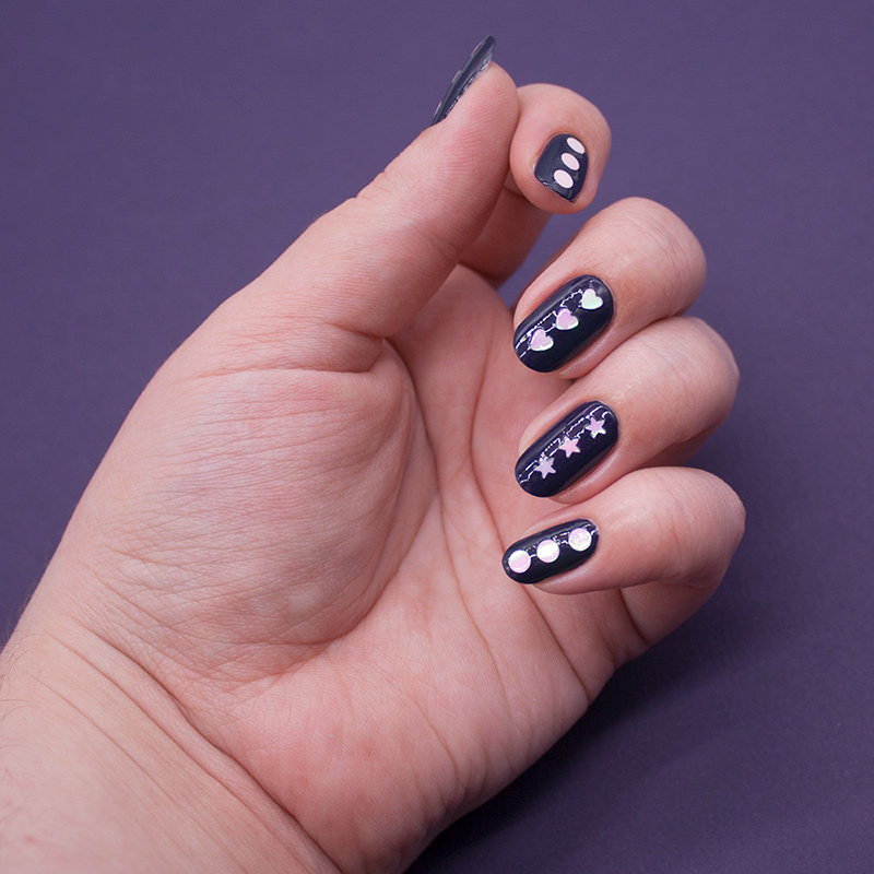 china glaze - sleeping under the stars, глиттер с али