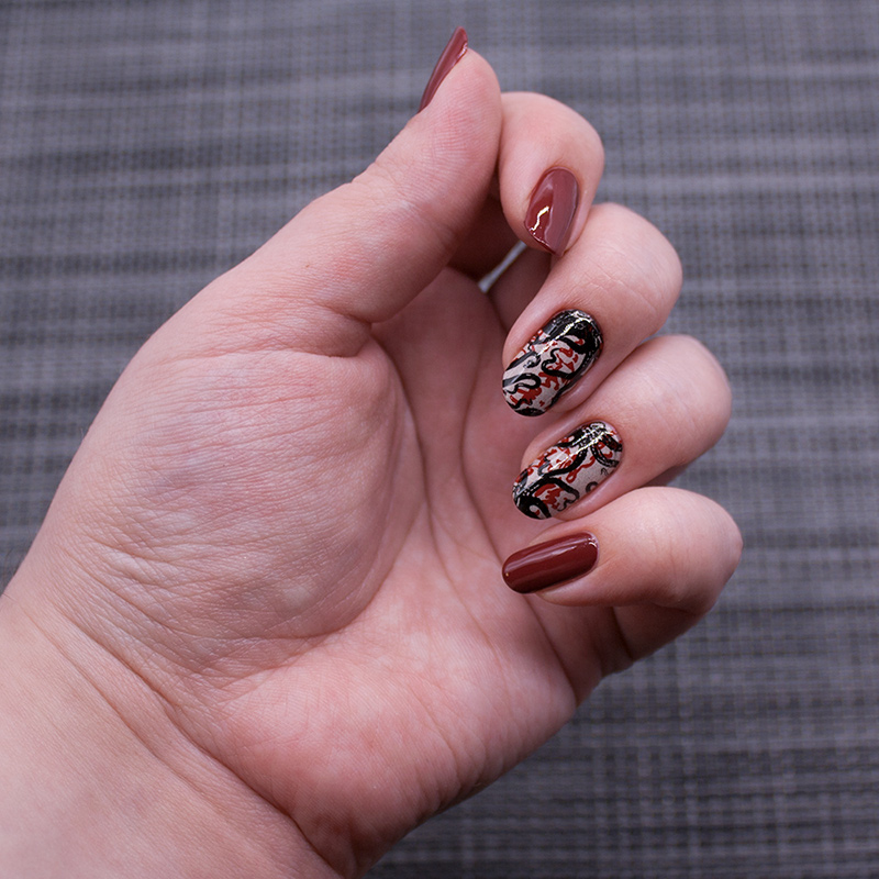 opi - lost on lombard, dance legend - peace pipe, dance legend stamping polish - raspberry red, dance legend stamping polish - black, moyou london - suki 05, lesly - marine 1